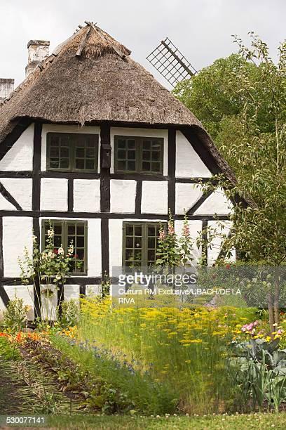 Mill, organic farm and garden in Funen Ethnographic Village, Odense, Denmark