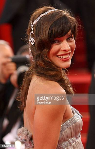 Milla Jovovich arrives at the 'Palermo Shooting' premiere at the Palais des Festivals during the 61st International Cannes Film Festival on May 24...