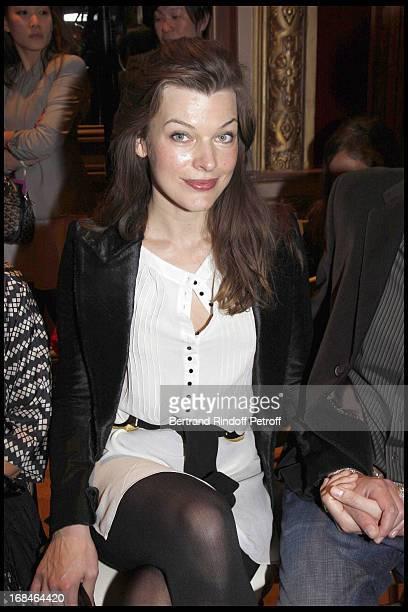 Milla Jovovich at Balmain Ready To Wear Spring Summer 2009 Fashion Show At Hotel Westin In Paris