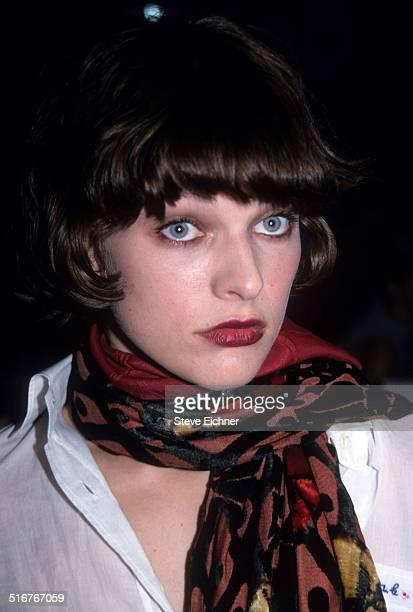 Milla Jovovich at Marc Jacobs Fashion Show New York November 3 1997