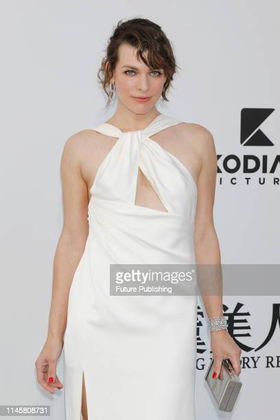 Milla Jovovich at the amfAR Cannes Gala 2019 at Hotel du CapEdenRoc on May 23 2019 in Cap d'Antibes France