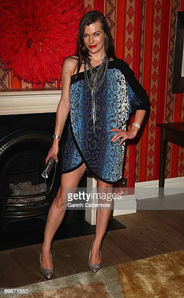 Milla Jovovich attends a photocall for 'A Perfect Getaway' at the Charlotte Street Hotel on August 7 2009 in London England