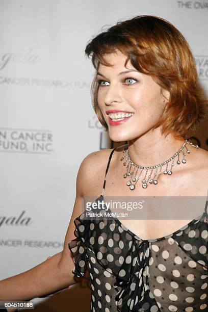 Milla Jovovich attends L'OREAL Legends Gala Benefiting The Ovarian Cancer Research Fund at The American Museum Of Natural History on November 8 2006