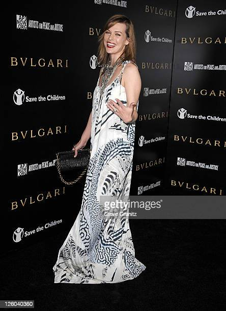 Milla Jovovich attends Save The Children's US Programs And Artists For Peace And Justice Hosted By Bulgari on January 13 2011 in Beverly Hills...
