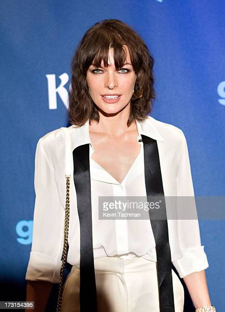 Milla Jovovich attends the 24th annual GLAAD Media awards at The New York Marriott Marquis on March 16 2013 in New York City