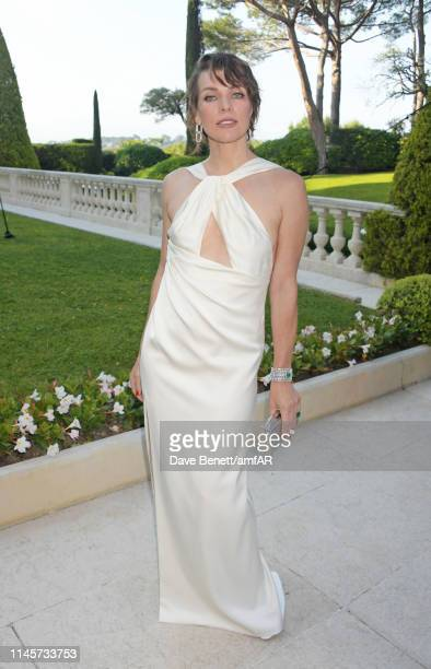 Milla Jovovich attends the amfAR Cannes Gala 2019 at Hotel du Cap-Eden-Roc on May 23, 2019 in Cap d'Antibes, France.