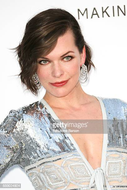 Milla Jovovich attends the amfAR's 23rd Cinema Against AIDS Gala at Hotel du Cap-Eden-Roc on May 19, 2016 in Cap d'Antibes, France.