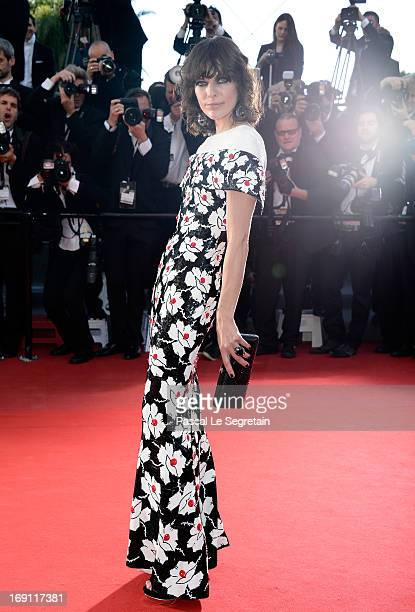 Milla Jovovich attends the 'Blood Ties' Premiere during the 66th Annual Cannes Film Festival at the Palais des Festivals on May 20 2013 in Cannes...