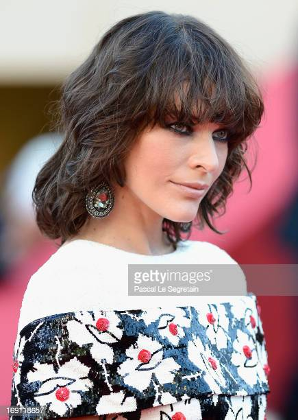 Milla Jovovich attends the 'Blood Ties' Premiere during the 66th Annual Cannes Film Festival at the Palais des Festivals on May 20, 2013 in Cannes,...