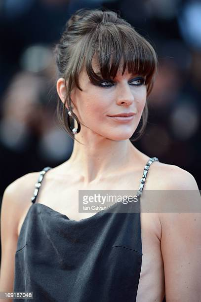 "Milla Jovovich attends the ""Cleopatra"" Premiere during the 66th Annual Cannes Film Festival at Grand Theatre Lumiere on May 21, 2013 in Cannes,..."