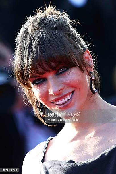 Milla Jovovich attends the Cleopatra Premiere during the 66th Annual Cannes Film Festival at Grand Theatre Lumiere on May 21 2013 in Cannes France