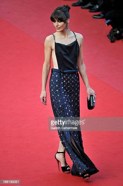 """Milla Jovovich attends the """"Cleopatra"""" Premiere during the 66th Annual Cannes Film Festival at Grand Theatre Lumiere on May 21, 2013 in Cannes,..."""
