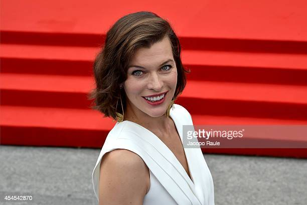 Milla Jovovich attends the 'Cymbeline' Premiere during the 71st Venice Film Festival on September 3 2014 in Venice Italy
