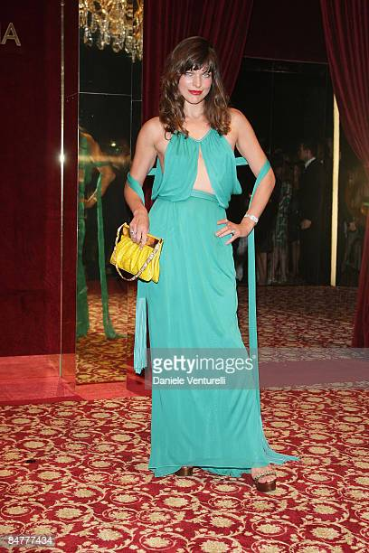 Milla Jovovich attends the Dolce and Gabanna party at Baoli Port Canto during the 61st International Cannes Film Festival on May 23 2008 in Cannes...