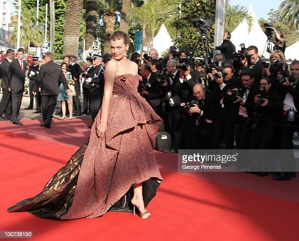 """Milla Jovovich attends """"The Exodus - Burnt By The Sun 2"""" Premiere held at the Palais des Festivals during the 63rd Annual International Cannes Film..."""