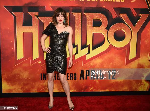 Milla Jovovich attends the Hellboy New York Screening at AMC Lincoln Square Theater on April 09 2019 in New York City