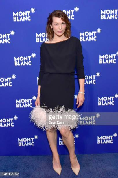 Milla Jovovich attends the Montblanc Meisterstuck Le Petit Prince event at One World Trade Center Observatory on April 4 2018 in New York City