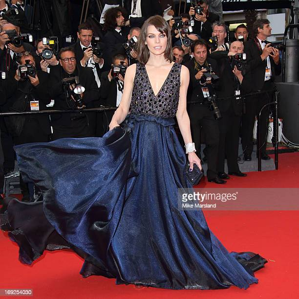 Milla Jovovich attends the Premiere of 'All Is Lost' at The 66th Annual Cannes Film Festival on May 22 2013 in Cannes France