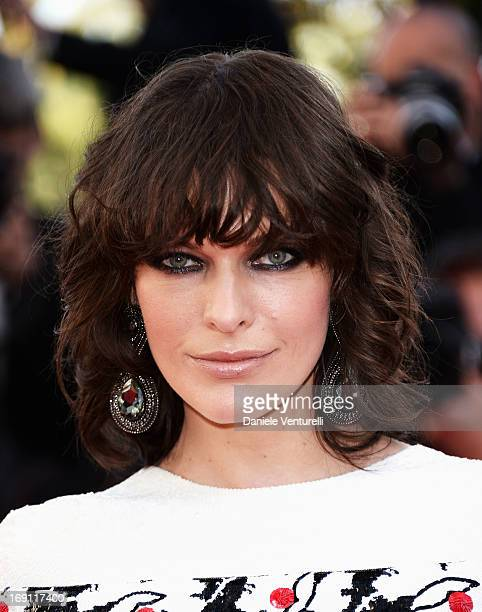 Milla Jovovich attends the Premiere of 'Blood Ties' during the 66th Annual Cannes Film Festival at the Palais des Festivals on May 20 2013 in Cannes...