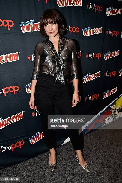 Milla Jovovich attends the Resident Evil Photo Call at Jacob Javits Center on October 7 2016 in New York City