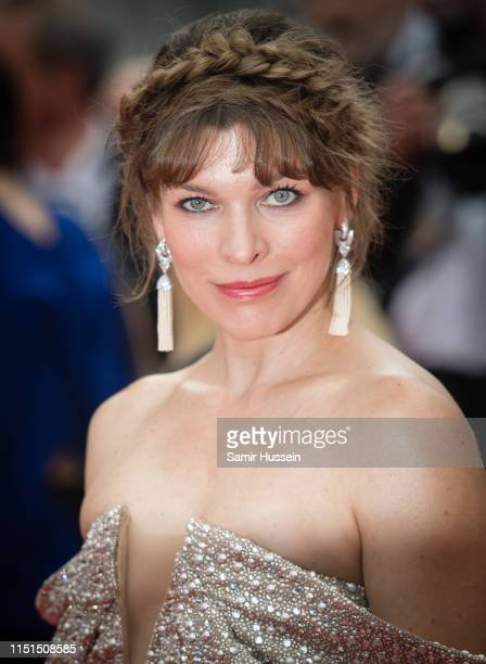 Milla Jovovich attends the screening of Sibyl during the 72nd annual Cannes Film Festival on May 24 2019 in Cannes France