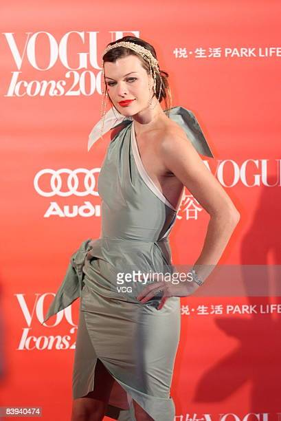 Milla Jovovich attends the VOGUE Icons 2008 grand ceremony on December 6 2008 in Beijing China