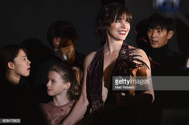 Milla Jovovich attends the world premiere of 'Resident Evil The Final Chapter' at the Roppongi Hills on December 13 2016 in Tokyo Japan