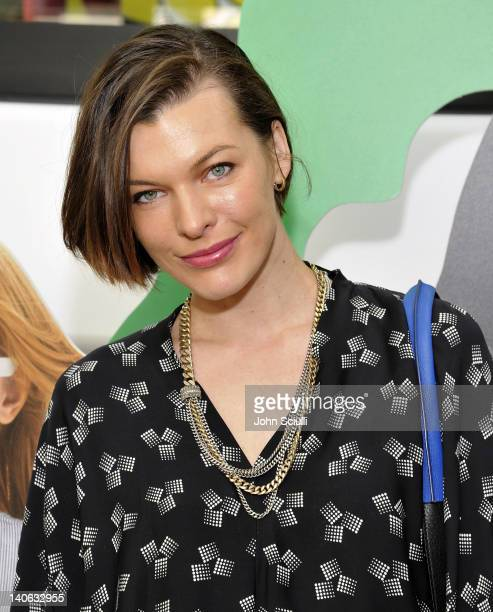 Milla Jovovich attends the world premiere of the GapKids DVF Collection at Gap In Los Angeles The Grove on March 3 2012 in Los Angeles California