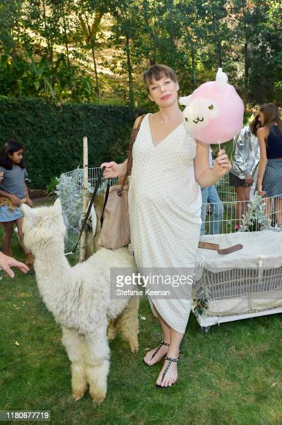 Milla Jovovich attends Tutu Du Monde 10th Anniversary Celebration at Private Residence on October 12 2019 in Beverly Hills California