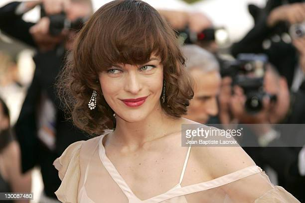 """Milla Jovovich during 2005 Cannes Film Festival - Closing Ceremony and """"Chromophobia"""" Screening at Palais Du Festival in Cannes, France."""