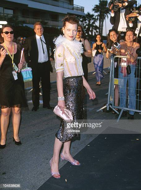 Milla Jovovich during 53rd Cannes Film Festical amfAR's Cinema Against AIDS 2000 at Cannes Film Festival in Cannes France
