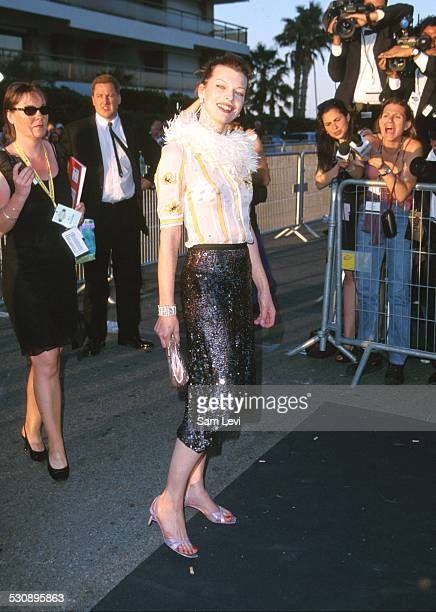 Milla Jovovich during 53rd Cannes Film Festical - amfAR's Cinema Against AIDS 2000 at Cannes Film Festival in Cannes, France.