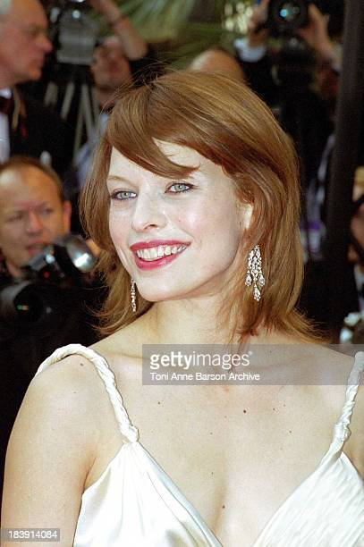 Milla Jovovich during 53rd Cannes Film Festival The Red Carpet at Palais des Festivals in Cannes France