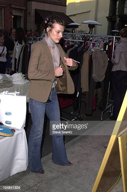 Milla Jovovich during Research Fund's 'Super Saturday LA' Designer Garage Sale with Hosts Tracey Ullman Purpleskirtcom and IN STYLE at Paramount...