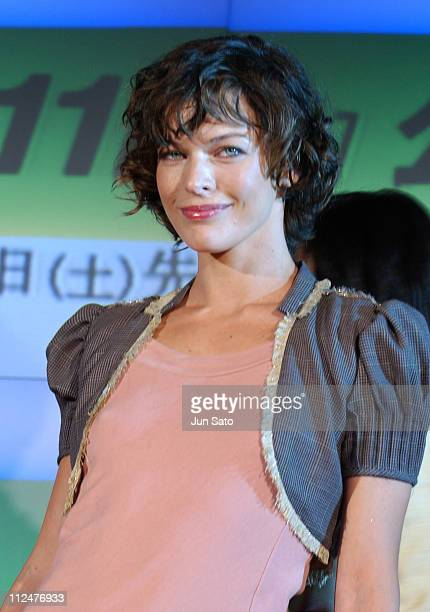 Milla Jovovich during Resident Evil Apocalypse Tokyo Press Conference at Grand Hyatt Tokyo in Tokyo Japan