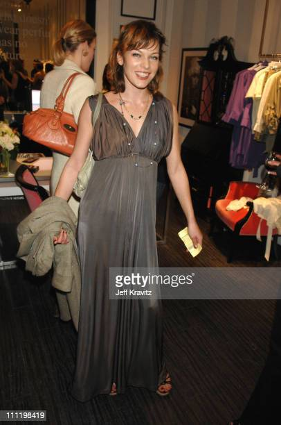 Milla Jovovich during Rickard Shah's Limited Edition Icon Collection Launch Party to Benefit Keep A Child Alive at Iconology at Iconology in Los...