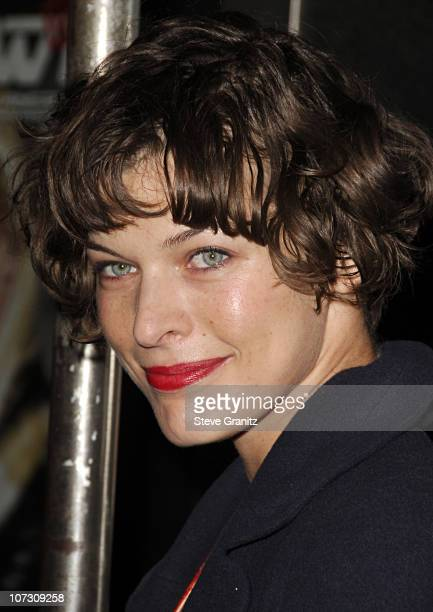 Milla Jovovich during Smashbox Cosmetics and the Roxy Theater Present Hedwig And The Angry Inch Arrivals at Roxy Theatre in West Hollywood California...