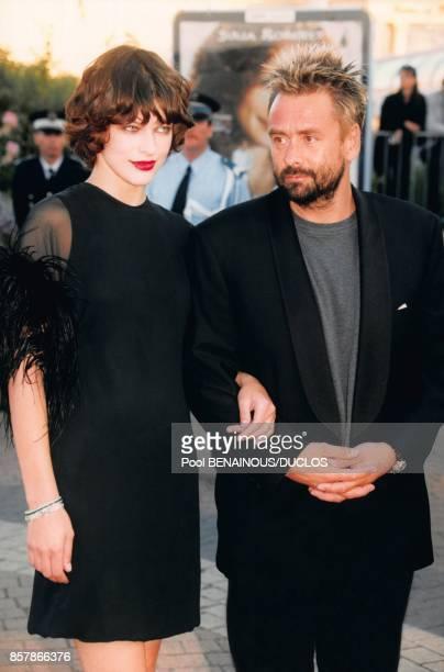 Milla Jovovich et Luc Besson au Festival de Deauville en septembre 1997 a Deauville France