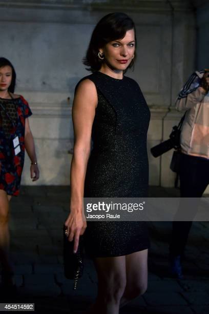 Milla Jovovich is seen during The 71st Venice International Film Festival on September 2 2014 in Venice Italy
