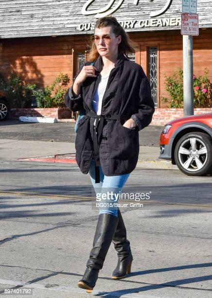Milla Jovovich is seen on December 22 2017 in Los Angeles California