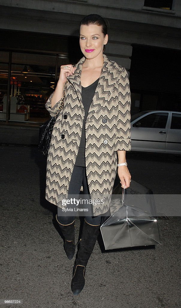 Milla Jovovich is sighted on April 23, 2010 in London, England.