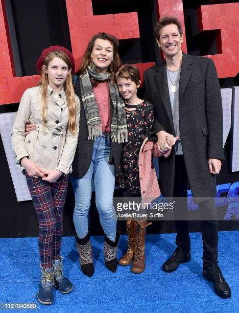 Milla Jovovich Paul W S Anderson daughter Ever Anderson and guest attend the premiere of Warner Bros Pictures' 'The Lego Movie 2 The Second Part' at...