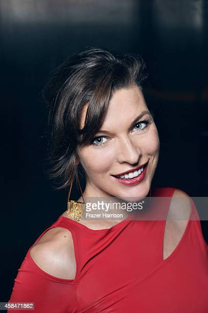 Milla Jovovich poses for a portrait at the amfAR LA Inspiration Gala on October 29 2014 in Los Angeles California