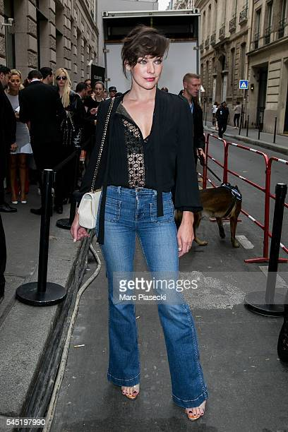 Milla Jovovitch attends the Elie Saab Haute Couture Fall/Winter 20162017 show as part of Paris Fashion Week on July 6 2016 in Paris France