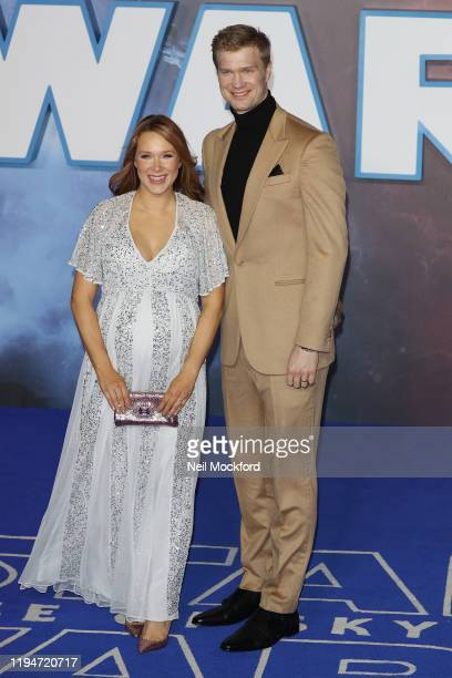 Milla Pohjasvaara and Joonas Suotamo attend Star Wars The Rise of Skywalker European Premiere at Cineworld Leicester Square on December 18 2019 in...