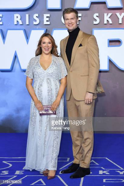 Milla Pohjasvaara and Joonas Suotamo attend the Star Wars The Rise of Skywalker European Premiere at Cineworld Leicester Square on December 18 2019...