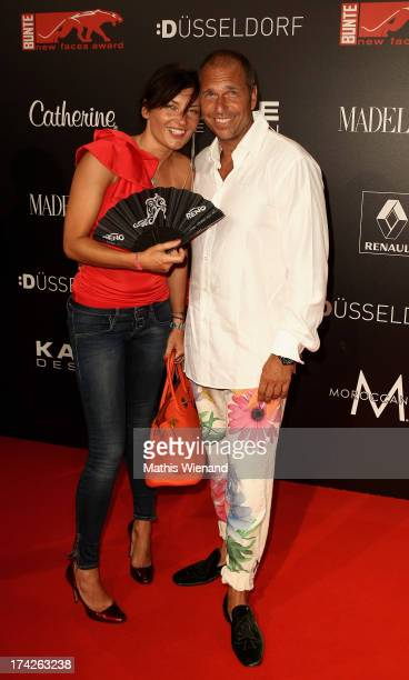 Milla Wiegand and Kai Ebel attend the New Faces Award Fashion 2013 at Rheinterrasse on July 22 2013 in Duesseldorf Germany