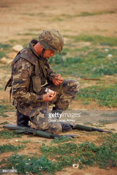 Millan Astray Barrack Melilla The Spanish Legion Practices of shot with a CETME The Legion Quartering Millan Astray Melilla