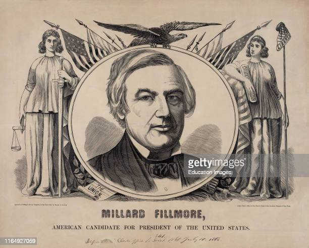 Millard Fillmore American Candidate for the President of the United States Campaign Banner Published by Baker Godwin 1856