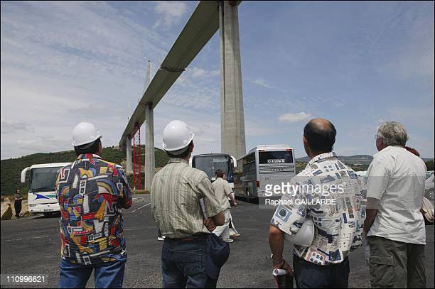 Millau sees last summer traffic jams before opening of world's highest bridge In Millau, France On July 03, 2004The construction site sees 600...
